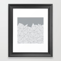 Abstract Mountain Grey Framed Art Print