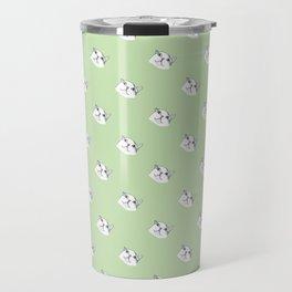 Derp Cat in Green Travel Mug