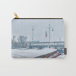 Snowfall over Pont Bir-Hakeim - Paris Carry-All Pouch