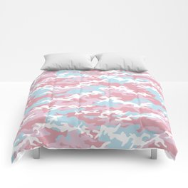 Pink Candy Camouflage Comforters