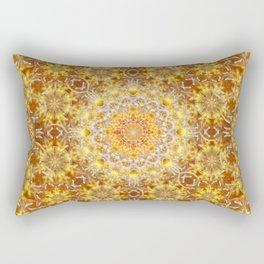 Golden Visions Mandala Rectangular Pillow