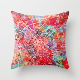 Spartanburg map South Carolina SC 2 Throw Pillow