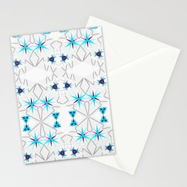 NORDIC STARS_in blue Stationery Cards