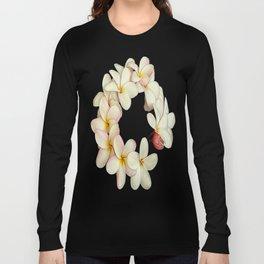 Plumeria Tropical Flower Garland Long Sleeve T-shirt
