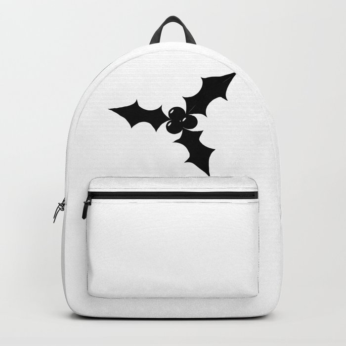 Christmas Holly Silhouette.Christmas Holly Leaf Silhouette Backpack By Homestead