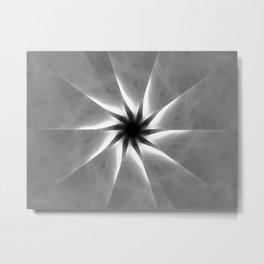 Gray Kaleidoscope Art 25 Metal Print