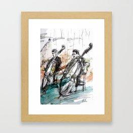Two Contrabass Framed Art Print
