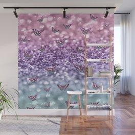 Pastel Unicorn Butterfly Glitter Dream #3 #shiny #decor #art #society6 Wall Mural