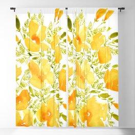 Watercolor California poppies (Quad set, #2) Blackout Curtain