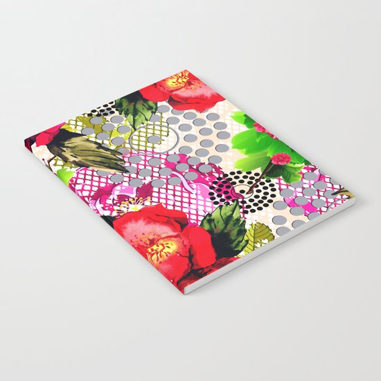 Flowers with Lace and Dots Notebook