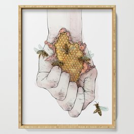 Hand and Honeycomb No. 2 Serving Tray