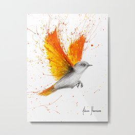 Citrus Season Bird Metal Print