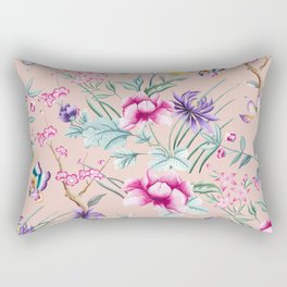 Floral Chinoiserie - Pale Dogwood Rectangular Pillow
