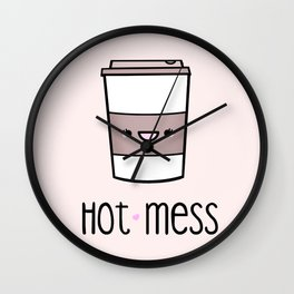 Hot Mess Wall Clock