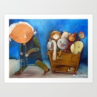 trip Art Prints featuring Trip by Monica Blatton