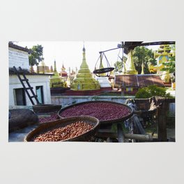 View from the Nunnery, Myanmar Rug