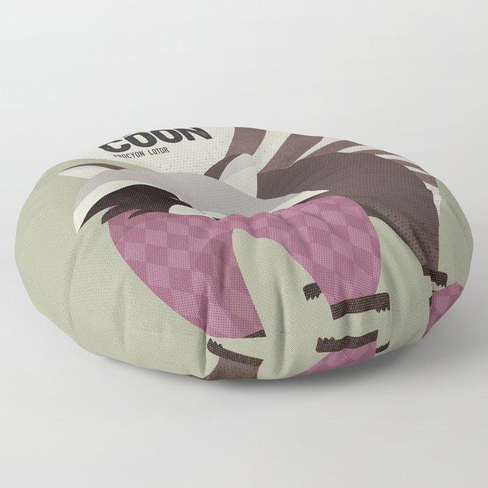 Hello Raccoon Floor Pillow