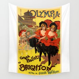 Belle Epoque vintage poster, Olympia, Grand Ballet Wall Tapestry