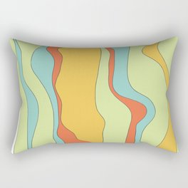 Curly lines of colour pattern Rectangular Pillow