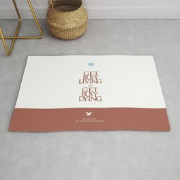 Lab No. 4 - Stephen King Shawshank Redemption movie Inspirational Quotes poster Rug
