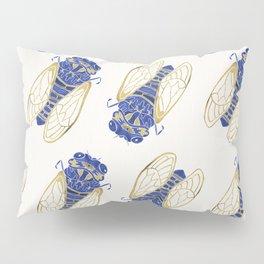 Cicada – Navy & Gold Pillow Sham