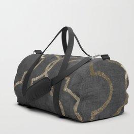 Paris Apartment Black Duffle Bag