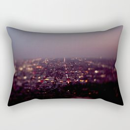 Angel City Lights, L.A. at Night (No. 2) Rectangular Pillow