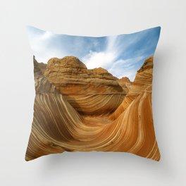The Wave-Paria Wilderness Throw Pillow