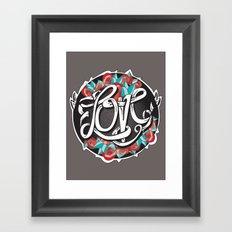 Love -Ribbon-Word Framed Art Print