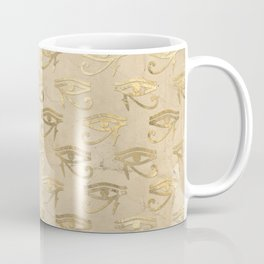 Gold Egypt Eye Of Horus Pattern Coffee Mug