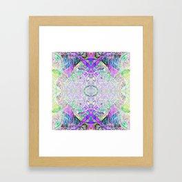 Crystal Dimension Codes Framed Art Print