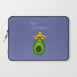 Holy Guacamole, avocado with sombrero Laptop Sleeve