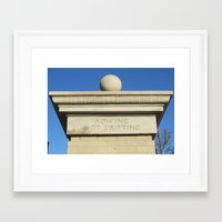 rowing Framed Art Prints featuring Rowing by catt