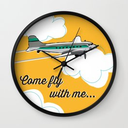 Come fly with me... Wall Clock