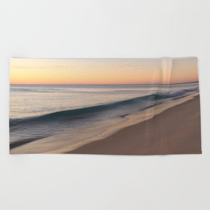 smooth waves Beach Towel