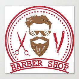 Barber shop Canvas Print