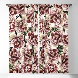 Vintage Flowers At Night #society6 Blackout Curtain