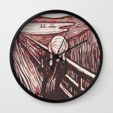 The Scream's Haze (red) Wall Clock