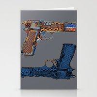 gun Stationery Cards featuring Gun N' Gun by Alex/Bourry