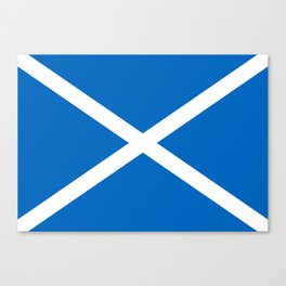 Blue and White Scottish Flag Canvas Print