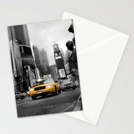 Shining Taxi Cab - Black and White Abstract Street Photograph Stationery Cards