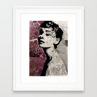 audrey Framed Art Prints featuring Audrey by A e f f e