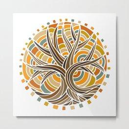 Tree of Life Light Metal Print