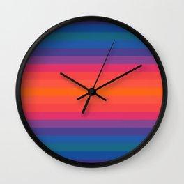 Retro Boho Stripes Wall Clock