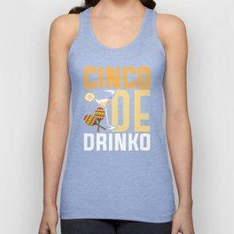 Cinco De Drinko Funny Cinco De Mayo T-Shirt Unisex Tank Top
