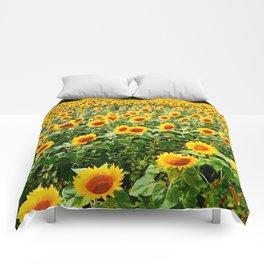 Field of Sunny Flowers Comforters