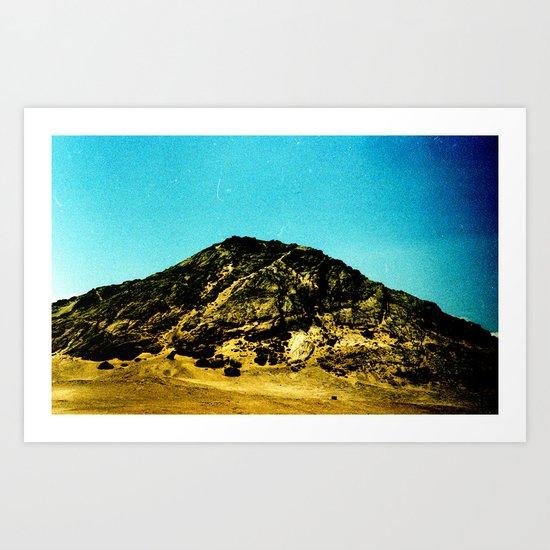 Retro landscape Art Print