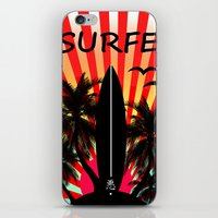 surf iPhone & iPod Skins featuring Surf by mark ashkenazi