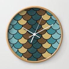 Shelled Teal Wall Clock