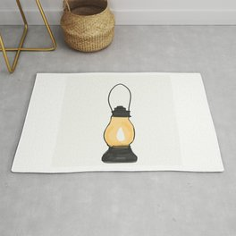 Indian Lantern Lamp | Minimalist doodles Art Rug